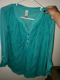 teal button-up cardigan Albuquerque, 87114
