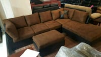 Brand New Brown Microfiber Sectional Sofa +Ottoman Silver Spring, 20902