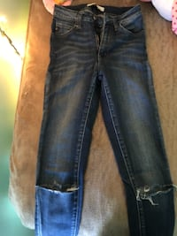 blue-washed whiskered jeans Moseley