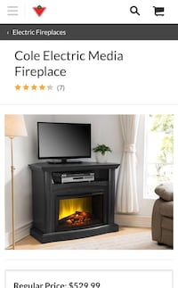 Cole Electric Media Fireplace (Corner TV Stand) Markham, L3P 6E3