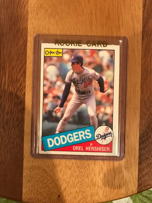 Orel Hershiser Rookie Baseball Card be6936b6-53a7-4258-83bf-8b69f9260e10