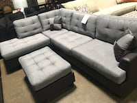 Fabric sectional with ottoman. Brand new.