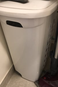 2 mint condition laundry baskets with wheels on sale 25 each.