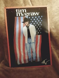 Vintage 1997 tim mcgraw tin poster Elizabethton, 37643