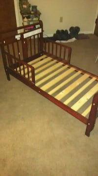 brown wooden bed frame with mattress Canton, 44708
