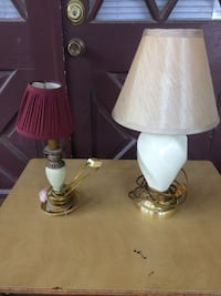 2 Small Working Lamps With Shades -FCFS-FPPU In Irvington  Irvington, 36544