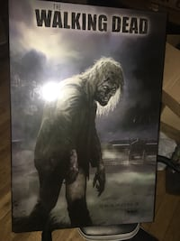 Walking Dead plaqued poster