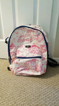 white, pink, and blue scout backpack North Bethesda, 20852