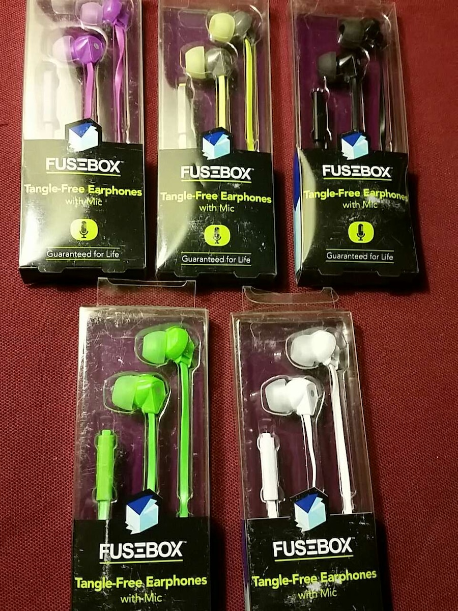 fusebox tanglefree ,with mic, earbud Breaker Box Fuses