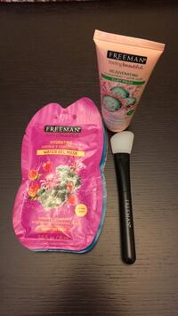 Gel & clay face masks w/ brush Burnaby, V3J