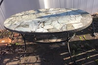 Pier 1 green marble top outdoor table
