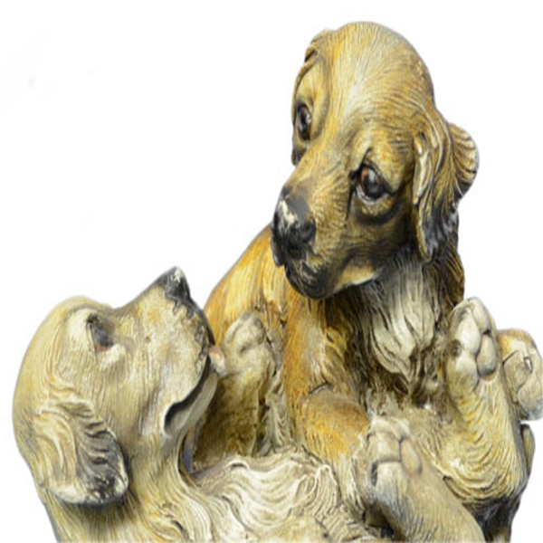 Two Puppy Labrador Playing Bronze Sculpture (4X5 Inches) f580cd85-de37-46fc-9c73-edf7ca4d0c40
