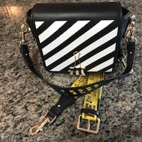 Off-White Binder Clip Bag Canvas Flap Tote Messenger Coquitlam, V3K 3P4