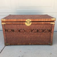 Wicker brown chest West Covina, 91791