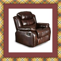 Burgundy recliner chair free delivery Temple Hills