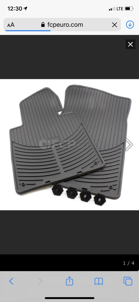 Photo BMW all weather rubber floor mats (4)