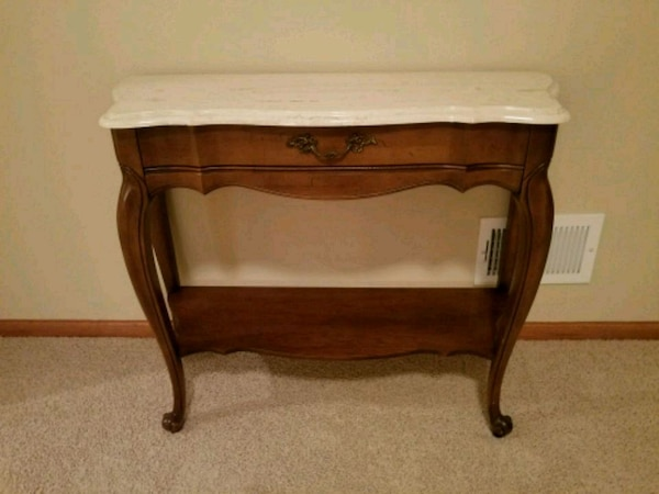 1bf0e7a0e76bc Used Victorian Marble top mahogony parlor side table for sale in Ankeny