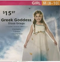 Greek Goddess Costume, Medium Ashburn, 20148