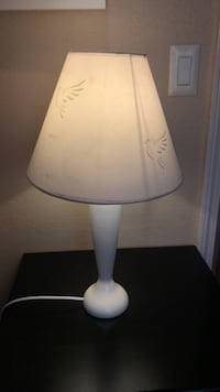 White and gray table lamp Valley Center, 92082