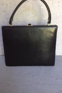 Black leather purse vintage 1960's. University Park, 20782