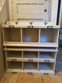 white wooden coat rack and shelf and bench Bradford West Gwillimbury, L3Z 1P4