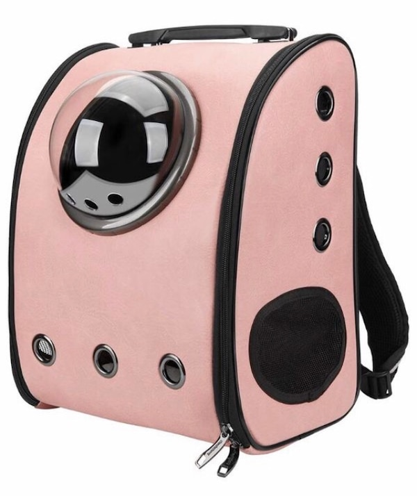 Brand new Innovative Traveler Bubble Backpack Pet Carriers for Cats and Dogs (Pink)
