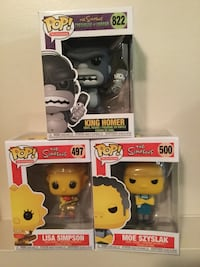 The Simpsons Funko Pop Figures. Lot of 3 Dmg Box. Cambridge, N1P 1A8