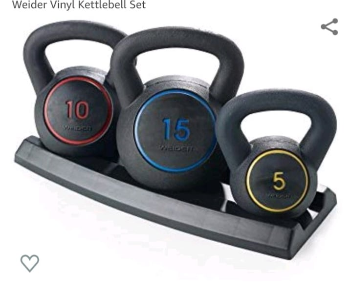 Kettlebell set of 3. 52c79afc-5a78-456c-8bf8-5514f27790bc