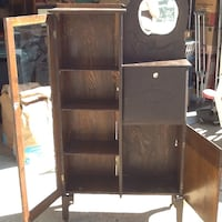 brown wooden cabinet with shelf Ames, 50010