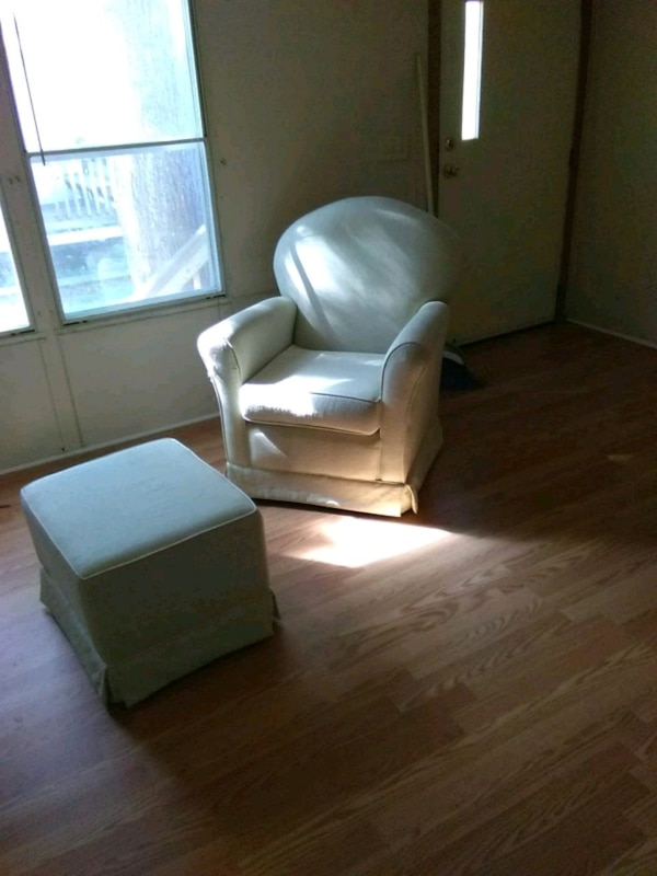 Off white glider and ottoman good shape