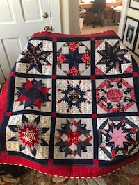 Red white blue quilt wall hanging or lap quilt. Marlborough, 01752