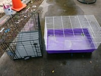 two purple and white pet cages Houston, 77086