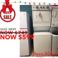 """Brand New 27"""" Whirlpool Electric Stacked Laundry Center(Scratch &Dent) Elkridge, 21075"""