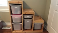 Ikea Trofast - excellent condition with Bins and Chalkboard/Whiteboard Markham, L6E 0H3