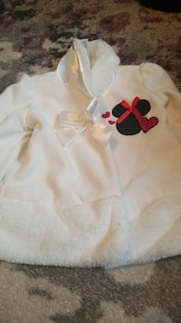white and black Mickey Mouse-printed fur coat St. Louis, 63123