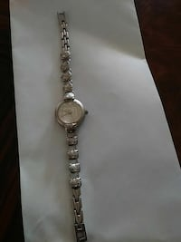 round silver analog watch with link bracelet South El Monte, 91733