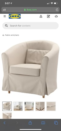 Excellent condition TULLSTA chair from Ikea. Mine is White not Beige. Silver Spring