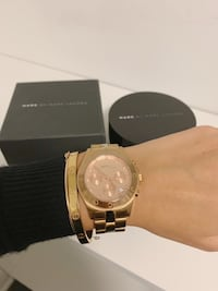 MARC by MARC JACOBS Large Blade Chrono Watch Rose Gold New York, 10023