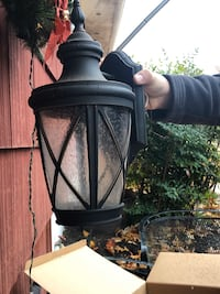 Exterior wall mounted light