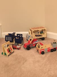 Wooden Vehicles, People, Wooden Vehicles, People, and Animals—Melissa & Doug and Pottery Barn Kids Vienna, 22180