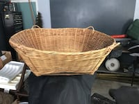 2 Large Woven Baskets