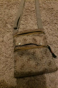 brown and black monogram Coach leather crossbody b Centreville, 20120