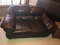 Small brown leather couch San Marcos, 78666