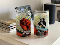 "Revolution Brewing Co. Pint Glasses - ""A Little Crazy"" Chicago, 60625"