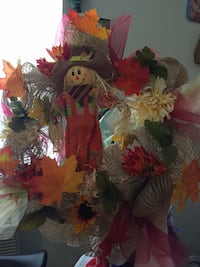 Fall burlap wreaths hand made by me