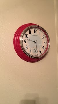 round red and white analog wall clock Lafayette, 70506