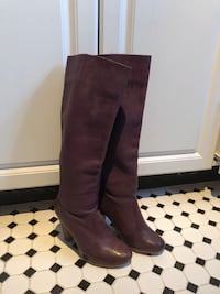 Purple leather boots size 7.5 Toronto, M9B