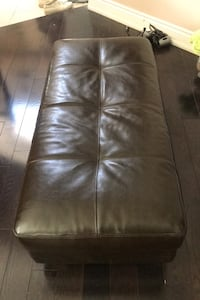 Leather chair/ ottoman/ foot rest