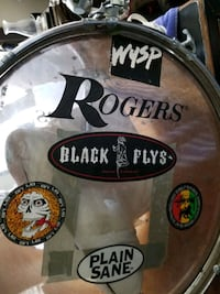 ROGERS DRUM SET~3 smaller drums and the base