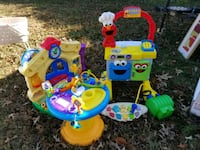 baby's multicolored activity saucer